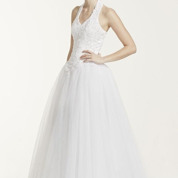 David\'s Bridal Dresses | Tulle Ball Gown Wedding Dress | Poshmark